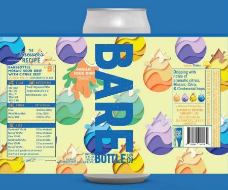 Beer-Pedia.com - Bare Bottle - Mosaic Sour Drip / Lil Kushy
