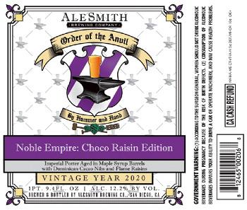 Beer-Pedia.com - AleSmith - Noble Empire: Choco Raisin Edition